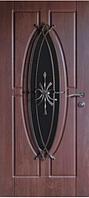 Входные двери со стеклом и ковкой 27 Премиум Vinorit