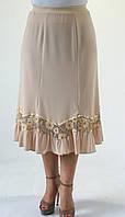 Женская летняя юбка Масло бежевого цвета
