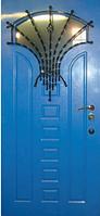Входные двери со стеклом и ковкой 29 тм Портала