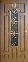 Входные двери со стеклом и ковкой 30 тм Портала