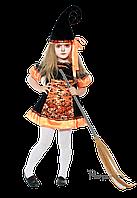 Детский карнавальный костюм для девочки ВЕДЬМОЧКА код 2054