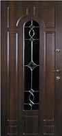 Входные двери со стеклом и ковкой 07 Витраж тм Портала