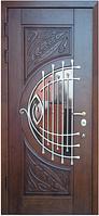 Входные двери со стеклом и ковкой М-7 Премиум Vinorit