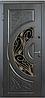 Входные двери со стеклом и ковкой BIG-13 Премиум Vinorit