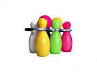 Кегли малютки 6+1 шар с ручкой №9 (Бамсик)
