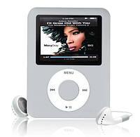 "MP3 плеер 8GB 2"" экран(копия под Ipod nano 3rd,новый) СЕРЕБРИСТЫЙ SKU0000331"