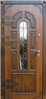 Входные двери со стеклом и ковкой Прага Премиум Vinorit