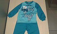 Пижама детская утепленная для мальчика (изумруд-мята)