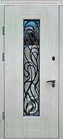Входные двери со стеклом и ковкой Невада Премиум Vinorit