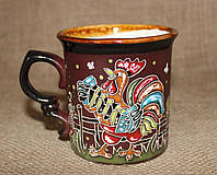 Чашка керамическая «Петушок баянист»