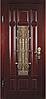 Входные двери со стеклом и ковкой М-4 Премиум Vinorit