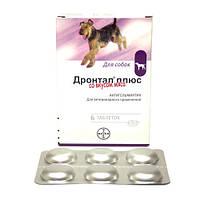 ДРОНТАЛ для собак антигельминтик широкого спектра (1шт на 10кг)Bayer  1шт