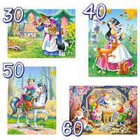 """В-04188, """"Белоснежка и семь гномов"""", 4xPuzzle(30.40.50.60)"""