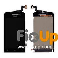 Дисплейный модуль для Asus ZenFone 4 (A450CG) с тачскрином в сборе, цвет черный