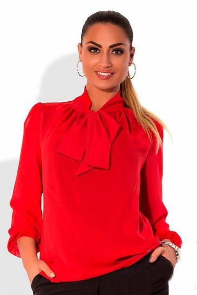 Красная женская Блузка - Piano  -