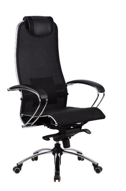 Кресло руководителя Samurai  S1 Black Plus эргономичное