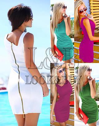 Женское платье BEAUTY_ 6 Цветов! Трикотаж ! Змейка!