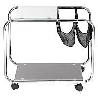 Журнальный столик L-20 колесики, сетка 41х59 см.