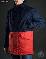 Зимняя куртка (парка) Staff - Nos dark blue with orange Art. HA0066 (тёмно-синий \ оранжевый)