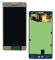 Дисплей (экран) для Samsung A500F Galaxy A5, A500FU/A500H/A500M + с сенсором (тачскрином) Оригинал золотистый