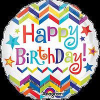 Фольгированный шар с надписью Happy Birthday