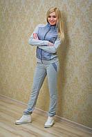 Спортивный костюм женский с плащевкой св-серый
