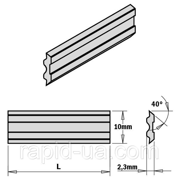 Фуговально строгальный нож 910×10×2,3 Tersa  CMT