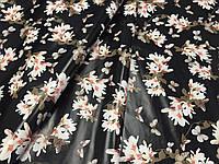 """Натуральная кожа высокого качества с цветочным принтом Флора 38 """"Благородный жасмин"""", фото 1"""
