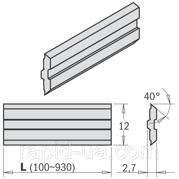 Нож строгальный  250×12×2,7 CENTROSTAR, CENTROFIX, QUICKFIX   CMT