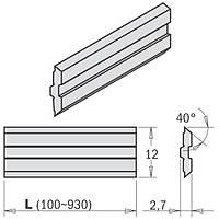 Нож строгальный  620×12×2,7 CENTROSTAR, CENTROFIX, QUICKFIX   CMT