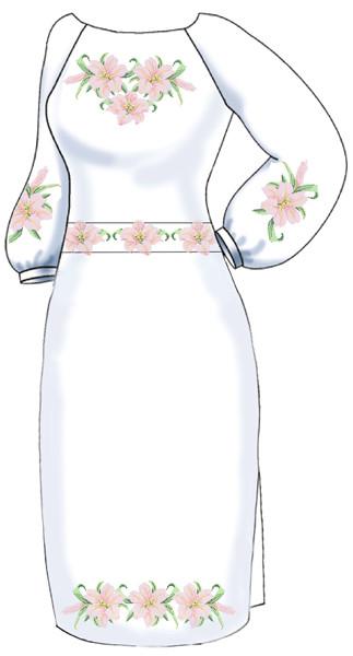 ВПЖ-16. Заготовка для вишивки бісером Жіноче плаття. 42843381753c3
