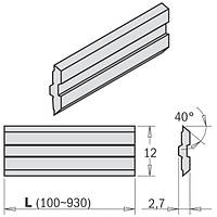 Нож строгальный  650×12×2,7 CENTROSTAR, CENTROFIX, QUICKFIX   CMT