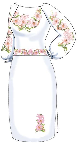 ВПЖ-11. Заготовка для вишивки бісером Жіноче плаття. ba853fff921b9