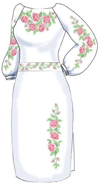 ВПЖ-10. Заготовка для вишивки бісером Жіноче плаття. fa20a9f1472e5
