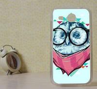Силиконовый чехол бампер для Huawei Y600 с картинкой Сова в очках