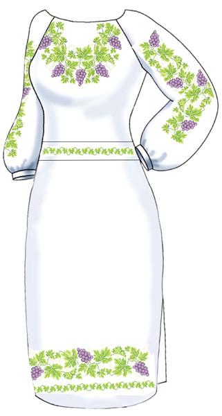 ВПЖ-4. Заготовка для вишивки бісером Жіноче плаття. 066391fa26bd1