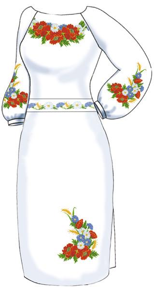 ВПЖ-3. Заготовка для вишивки бісером Жіноче плаття. -