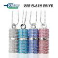 Флешка 4Гб со стразами,Серебро, Diamond Crystal,Usb Flash Drive.TECHKEY