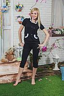 Костюм женский с бриджами  черный
