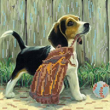 """Схема для вышивания бисером """"Игривый щенок"""", фото 2"""