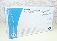 Перчатки Нитриловые Medicom Safe Touch Голубые р. М 100 шт/уп