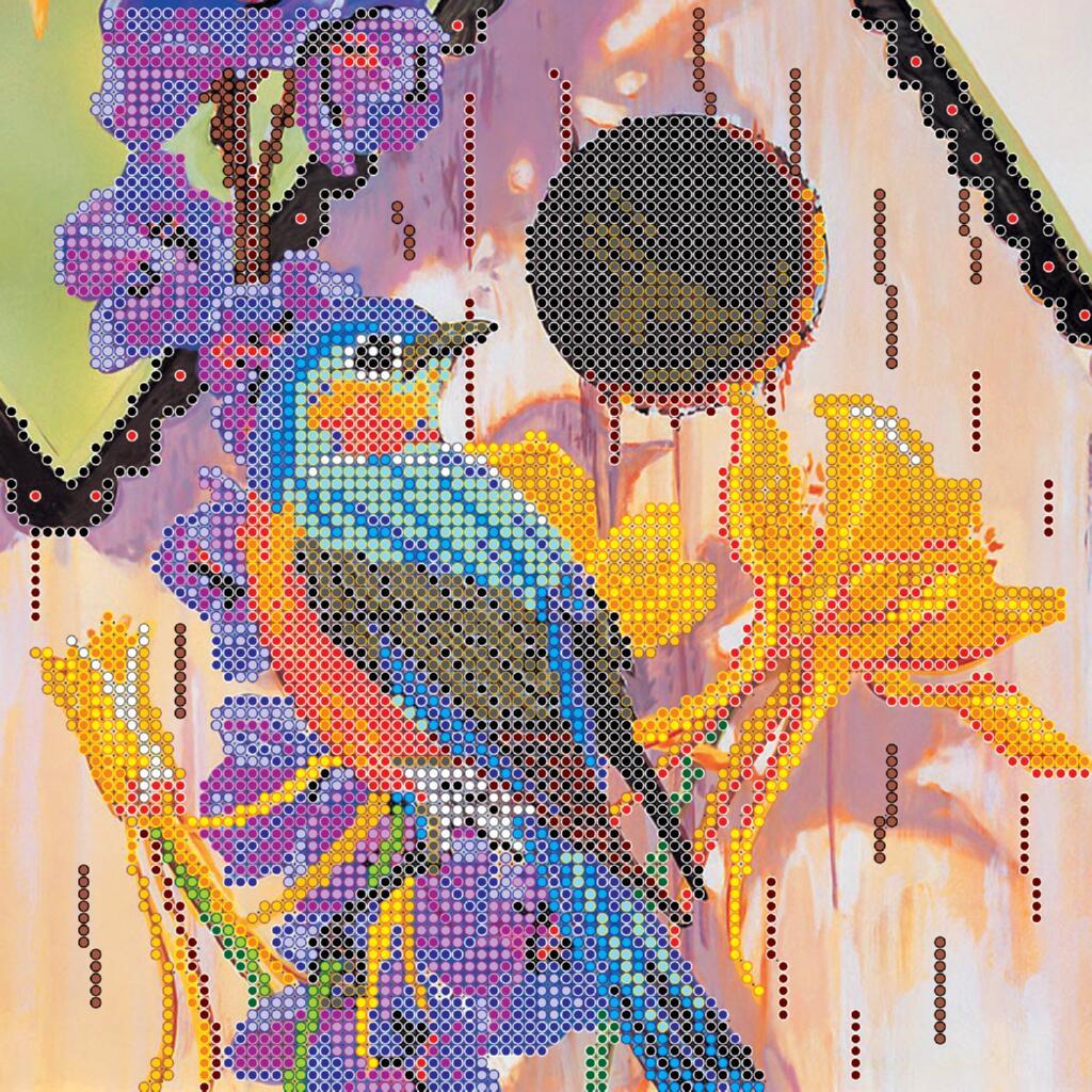 """Схема для вышивания бисером """"Птичкин дом"""""""