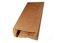 Пакет бумажный 10/4x21 см коричневый