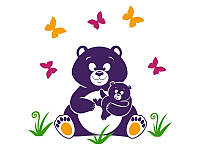 Виниловая Наклейка Glozis Bear 130*130 см