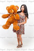 Большой плюшевый мишка, медведь Томми 100см коричневый