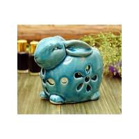 Аромалампа керамическая Зайчик Синий арт 9120082-1