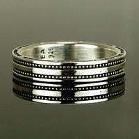 "Женское серебряное кольцо ""Milgrain"" от WickerRing"