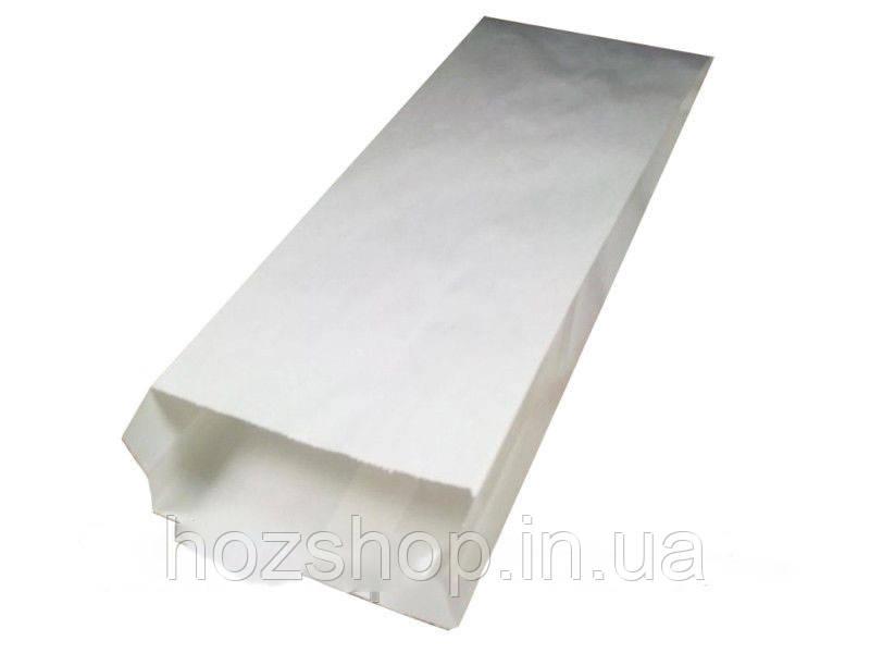 Пакет бумажный 10/4x23 см белый
