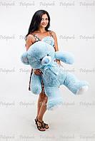 Большой плюшевый мишка, медведь Томми 100см голубой