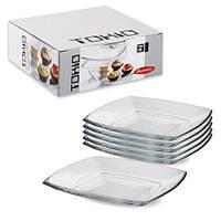 Тарелка десертная квадратная Tokio 6 шт.*195 мм, Pasabahce 54077 ПУ